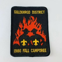 Vintage BSA Boy Scouts of America Patch Goldenrod District 1986 Fall Camporee - $19.00