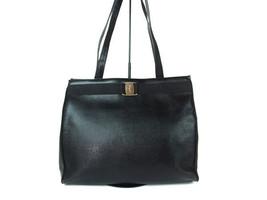 Authentic SALVATORE FERRAGAMO Vara Black Leather Tote Bag, Shoulder Bag ... - $149.00