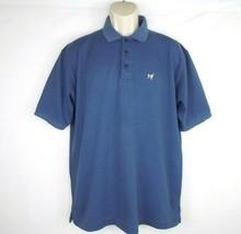 Big Dogs Mens Polo Shirt Size Medium Short Sleeve Blue St Bernard - $13.86
