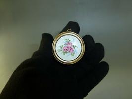 Vintage Reuge Swiss Miniature Music Box Pendant Guilloche Enamel Top (See Video) - $391.05