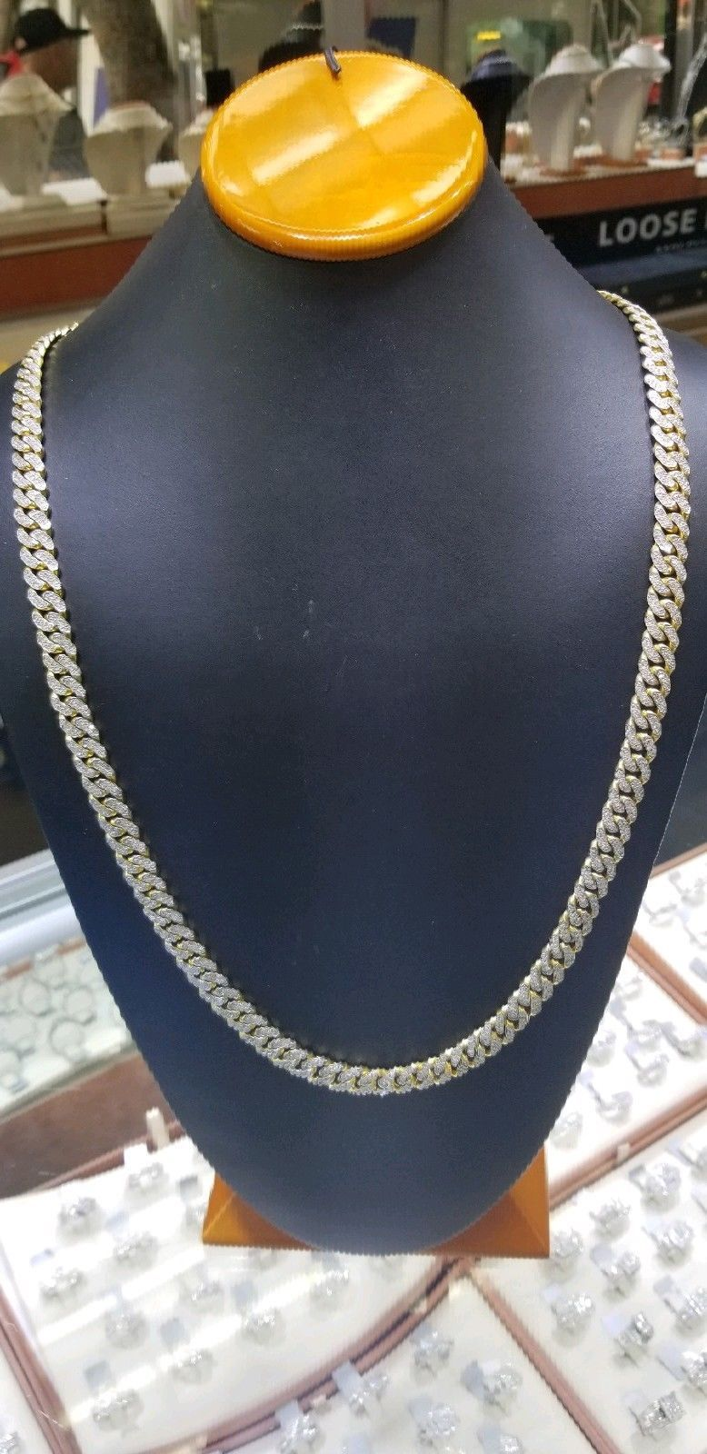 d38590f5020944 57. 57. Previous. Men's Real Diamond Miami Cuban Link Necklace Chain 10CT 9mm  10k Yellow Gold 30In · Men's Real ...