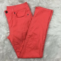 J.Crew Women's Coral Orange Toothpick Ankle Jeans Pants Size 28 Style 78211 - $19.79