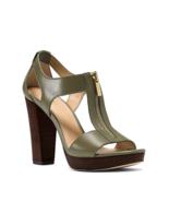 MICHAEL Michael Kors Berkley T-Strap Dress Sandals Olive Size 8.5 - $79.99