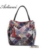 Arliwwi Brand Classical Snake Pattern Ladies Tote. 100% Genuine Leather ... - $79.99+