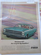 vintage FORD Fairlane GT 1965 mod magazine paper ad 10x13 suitable for framing - $7.38
