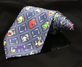 Looney Tunes Men's Neck Tie 100% Silk Taz Pepe Le Pew Gossamer Tweety 1999 - $11.95