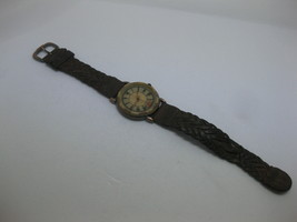 Fossil BW6746 Retro Women's Watch Brown Leather Strap Marble - No Crystal WORKS - $39.59