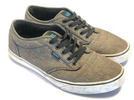 VANS Shoes Classic 500200 Gray Canvas Shoes Mens Size 9 EUR 42 Off The Wall - $29.35