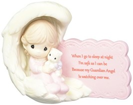 Precious Moments 152008 My Guardian Angel Girl Bisque Porcelain Figurine - $42.13