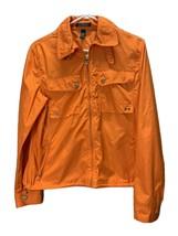 Lauren Ralph Lauren Neon Orange Nylon Wind Breaker Size Medium - $32.68