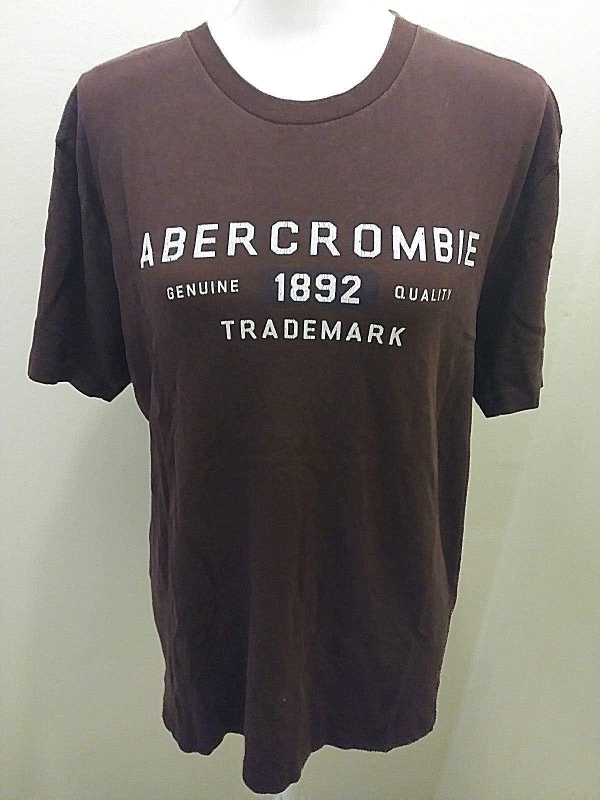Abercrombie and Fitch Mens 1892 Reliable Outdoor Goods T Shirt Drk Brown White M