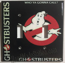 Ghostbusters Who Ya Gonna Call Light Switch Outlet wall Cover Plate Home decor image 4