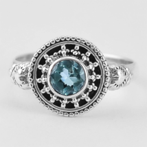 Delicate Alexandrite Ring Size 9 US or S for UK, 925 Silver,Changes Color - $28.00