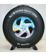 VINTAGE HOT WHEELS STORAGE CASE 12 CAR RALLY MATTEL 1967 CARRYING CASE TIRE - $19.79