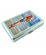 French Pin Up Girls D8 Silver Metal Cigarette Case RFID Protection Wallet - $13.95