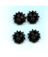 happy sun face pendant black hematite stone 20mm charms sun gemstone jew... - $2.99