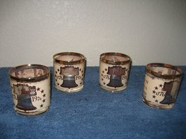 Set of 4 In Congress July 4 A Declaration 1776-1976 Glass Cups Glasses G... - $14.80