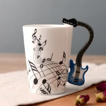 3D Handle Guitar Blue Music Mugs Coffee Milk Tea Cup Drinkware Music Uni... - $23.95