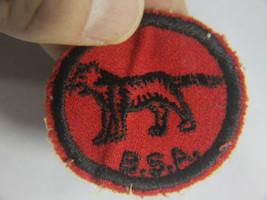 Vintage 1950s Boy Scouts Merit Badge- B.S.A. Red & black Cub Lion patch - $12.95