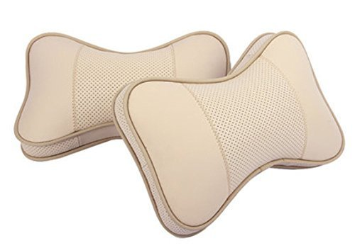 Classical Car Neck Pillow Soft Memory Foam Neck Pillow Neck Rest Pillow Beige