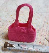 2010 Barbie doll Accessory item Pink Handbag Pet Dog Carrier Purse pre-o... - $9.61