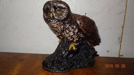 Vintage Owl Sculptured candle wax Carved - $27.00