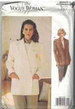 8605 sin Cortar Vogue Patrón de Costura Misses Suelto Ajuste Chaqueta Fo... - $4.88