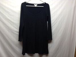 Sherry Taylor Black Scoop Neck Pullover Sweater Sz LG