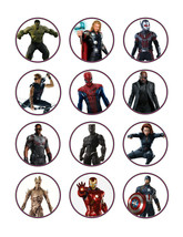 Avengers edible party cupcake toppers decoration frosting toppers 12/sheet* - $7.80