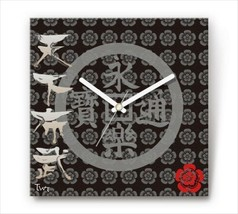 Sengoku Design Fabric Wall clock Interior Nobunaga Oda - $99.99