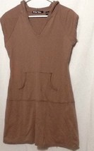 planet Gold sz L womens Dress hooded Brown - $11.65