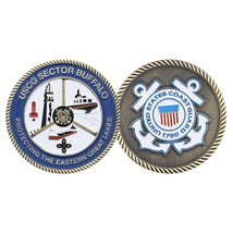 "USCG COAST GUARD SECTOR BUFFALO GREAT LAKES 1.75"" CHALLENGE COIN - $17.14"