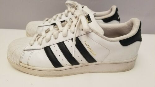 Adidas Superstar Shell Toes Size 9.5 Original Black/White