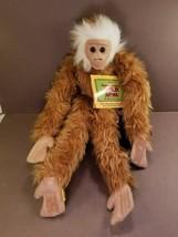 "Wild Republic Hanging Plush Monkey Gibbon Ting Ting 17"" Stuffed with Tags - $22.85"