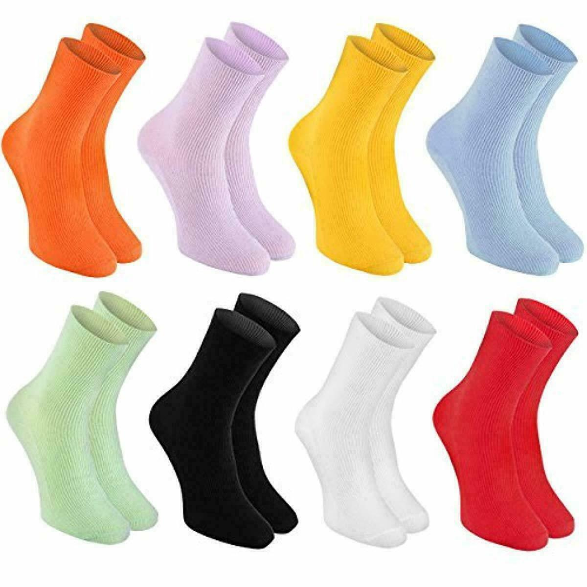 Primary image for 8 pairs of DIABETIC Non-Elastic Cotton Socks for SWOLLEN FEET for Mens & Womens