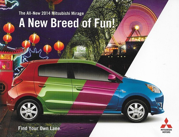 2014 Mitsubishi MIRAGE sales brochure catalog folder US 14