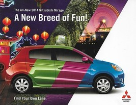 2014 Mitsubishi MIRAGE sales brochure catalog folder US 14 - $6.00