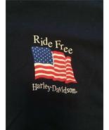 HARLEY-DAVIDSON MOTORCYCLES Men's Navy Blue T-Shirt Size LARGE American ... - $28.04