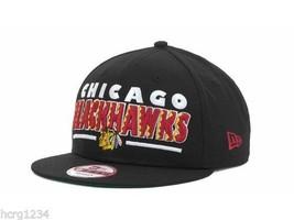 Chicago Blackhawks New Era 9FIFTY NHL Retro Sting Logo Hockey Cap Hat - ₹1,518.17 INR