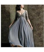 Sexy V-Neck Lace Sleeve Long Mother Of The Bride Dresses Cheap Evening G... - $129.33