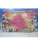 Looney Tunes Sports My Favorite Team! Picture Frame Bugs Taz Daffy Tweet... - $6.00