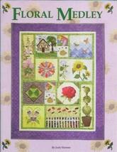 Floral Medley Sampler Quilt Book by Judy Hansen 2007 Paperback 12 Blocks - $12.99
