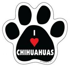 "I Heart CHIHUAHUAS DOG PAW PRINT Fridge Car Magnet 5""x5"" Large NEW FREE ... - $5.89"