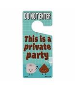 Crazy Novelty Guy Door Knob Hanger, Metal, Do Not Enter, This is a Priva... - $8.99