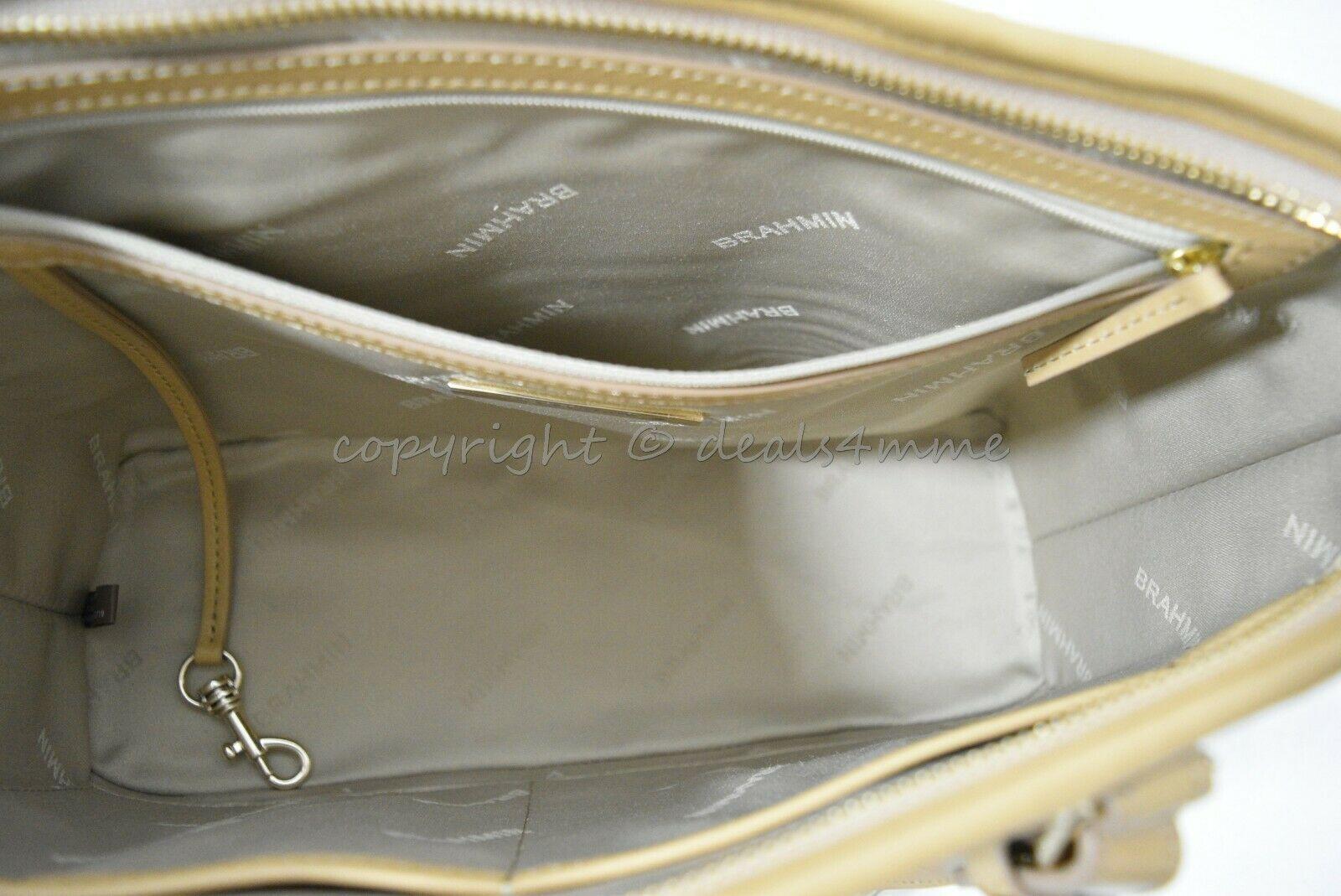 NWT Brahmin Mini Asher Leather Satchel/Shoulder Bag in Multi Pompano image 3