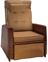 Noble House Lounge Chair 250 lb. Capacity Reclining Weather Resistant Brown - £342.47 GBP