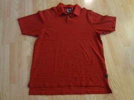 Men's Adidas Climalite L Polo Red & Black Striped - $9.13