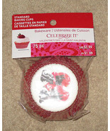 New Celebrate It Valentines Day Bakeware Standard Baking Cups 75 pc (CS-H2) - $1.99