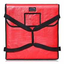 """Star Foodservice 50110 Insulated Pizza Delivery Bag, 22"""" by 22"""" by 5"""", Red - $27.35"""