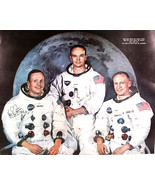 """NASA  Apollo 11 Crew Photo ARMSTRONG COLLINS ALDRIN Pre-Printed   16"""" x 20"""" - $59.83"""